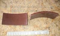 Накладка тормозная 700-40-7373 (толщина 10 мм) тормозной ленты бульдозера Т-130,Т-170,Б-10М