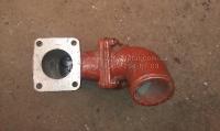 Патрубок 150У.13.017 водяного радиатора нижний двигателя СМД 60 трактора ХТЗ Т 150
