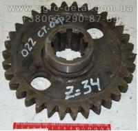 Шестерня 701.16.02.022 старого образца Z=34 редуктора привода насосов РПН трактора К-700,К-701