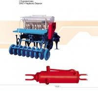 Гидроцилиндр опускания посевного агрегата 16ГЦ.100/32.ВВ.000-200 сеялки зерновой СТС-2,1 и СТС-6