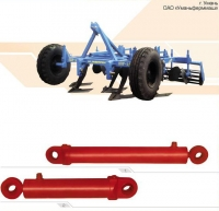 Гидроцилиндр подъема и опускания шасси 16ГЦ.80/40.ПП.000-2-400 дробильщика дискового тяжелого БДВ-7