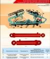 Гидроцилиндр подъема и опускания секций 16ГЦ.80/40.ПП.000-2-500 культиватора навесного КПН-8