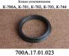 Кольцо 700А.17.01.023-2 уплотнительное ведущего вала коробки передач трактора К-700,К-701,К-702