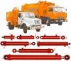 Гидроцилиндр поворот захвата 16ГЦ.80/50.ПЦ.000-400 автомобиля по вывозу мусора ТБО КО-413,КО-415